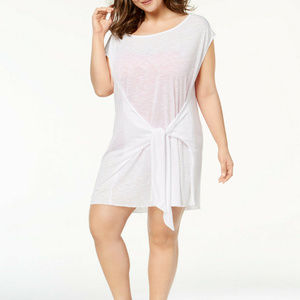 NWT! Becca White Breezy Basics Cover Up Plus 1X